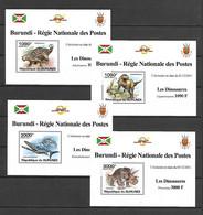 Burundi 2011 Animals - Dinosaurs I 4 MS MNH - Prehistorisch