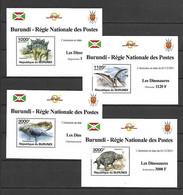 Burundi 2011 Animals - Dinosaurs II 4 MS MNH - Prehistorisch