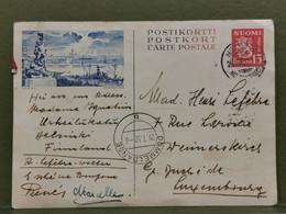 Entier Postaux, Oblitéré Helsinki 1952 Envoyé Au Luxembourg à Dommeldange - Ganzsachen