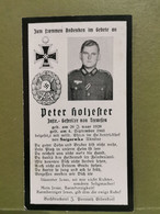 Sterbebild, WW2. Peter Holzester  , Gefallen 1941 Snigerwka Ukraine - 1939-45