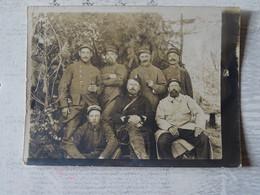 Carte Photo Soldats Français 104e R.I. - 1914-18