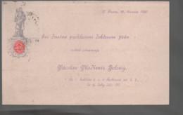 Vorläufer Geschäftspost Ansichtskarte Aus Prag Kleinseite 1886 Gelaufen Mit Kuk 2 Kreuzer Marke - República Checa