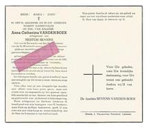 DD 354. ANNA CATHARINA  VANDENBOER - Lid Erewacht H. Sacrament En St. Elisabethvereniging - LOMMEL 1907 / 1957 - Andachtsbilder
