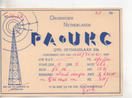Cpa.Cartes QSL.PAoUKG.1950.Netherlands.to PAOKA - Radio Amatoriale