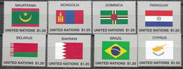 UN, 2020, MNH, FLAGS,8v - Briefmarken