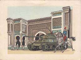 """CP - Milit. - Carte De Voeux 12°régiment  De Chasseurs D'Afrique - Char - Insigne - """"Audace N'est Pas Déraison"""" - Regimenten"""