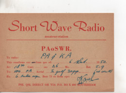 Cpa.Cartes QSL.PAoSWR.Rotterdam.1950.to PAOKA - Radio Amatoriale