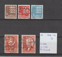 Denemarken 1946-'47 - Yv. 304/06+307+314 - Mi. 289/91+294+301 Gest./obl./used - Usati