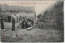 Viêt-Nam, TONKIN, Mise En Bière Des Sergent Casanova Et Boubault Dans Le Combat Du 11 Février, Scan Recto-Verso - Vietnam