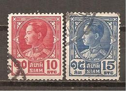 Tailandia (Siam) Nº Yvert  196-97 (usado) (o) - Siam
