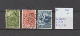 Denemarken 1947 - Yv. 308/10 - Mi. 295/97 Gest./obl./used - Usati