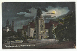 Germany, Magdeburg, Kaiser Friedrich Museum Bei Nacht, '20s.(?). - Magdeburg