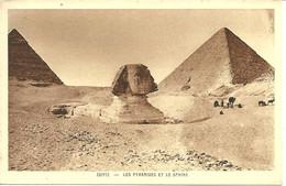 CPA EGYPTE / LES PYRAMIDES ET LE SPHINX - Sphinx