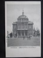 CP BELGIQUE (V1903) ST GHISLAIN (2 Vues) Hôtel De Ville Et Grand Place Edit. DVD 8894 - Saint-Ghislain