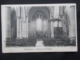 CP BELGIQUE (V1903) ST GHISLAIN (2 Vues) Intérieur De L'église Edit. DVD 8903 - Saint-Ghislain