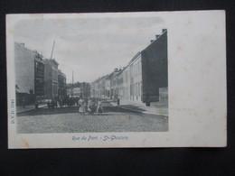CP BELGIQUE (V1903) ST GHISLAIN (2 Vues) Rue Du Port - Edit. DVD 5944 - Saint-Ghislain