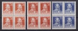 Alliierte Besetzung - 1947 - Michel Nr. 963 A/b + 964 Viererblock - Postfrisch - 80 Euro - Amerikaanse, Britse-en Russische Zone