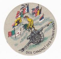 Vignette Militaire Patriotique - Des Canons! Des Munitions! Coq - Militario