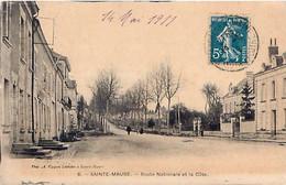 Cpa SAINTE MAURE 37 Route Nationale Et La Côte - Altri Comuni