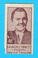 LAWRENCE TIBBETT Actor Singer - Metropolitan Opera New York YUGOSLAV KINGDOM CHOCOLATE CARD 1930's Music Musique Musik - Zonder Classificatie
