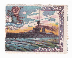 Vignette Militaire Delandre - Grande Bretagne - H.M.S. Thunderer - Militario