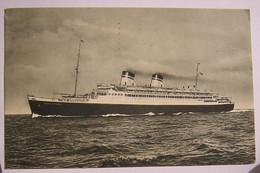ITALIA FLOTTE RIUNITE GENOVA ~ 1933 ~ CONTE DI SAVOIA ~ Regno Sass 249 ~ PIROSCAFO ~ TRANSATLANTICO ~ NAVE ~ Intero Post - Steamers