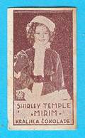 SHIRLEY TEMPLE ( American Actress ) - Yugoslavian Kingdom Vintage Pre-WW2 Card (chocolate) RRRR - Zonder Classificatie