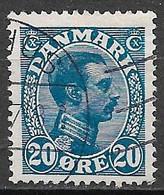 Denmark 1913. Scott #103 (U) King Christian X - Usati
