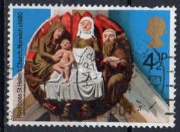 GRANDE BRETAGNE N° 743 O Y&T 1974 NOEL Ornements En Relief - 1952-.... (Elisabetta II)