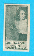 JANET GAYNOR ( American Film Actress ) - Yugoslavian Kingdom Vintage Pre-WW2 Card (chocolate) * Movie RRRR - Zonder Classificatie