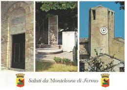 (FM) MONTELEONE DI FERMO, MULTIVEDUTA - Cartolina Nuova, Saluti - Other Cities