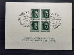 Deutsche Reich Mi-Nr. 647 Gestempelt Block 8 - Blocks & Kleinbögen