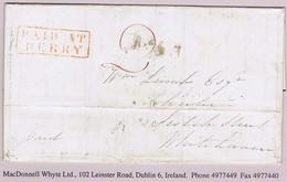 Ireland Derry Belfast 1846 Boxed 2-line PAID AT DERRY Letter To Whitehaven Green DERRY MY 26 1846 Cds - Voorfilatelie
