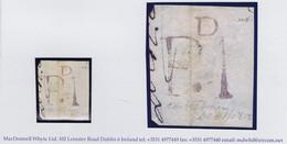 "Ireland Military Mayo 1812 Castlebar Distinctive Soldiers' Rate Handstruck ""PD.1"" In Purple-red On Piece - Vorphilatelie"