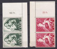 Saarland - 1954 - Michel Nr. 351/352 P OR Paar - Postfrisch - Unused Stamps
