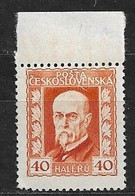 Czechoslovakia 1925 MNH ** Mi 221 Sc 95 President T.G.Masaryk.Tschechoslowakei - Czechoslovakia