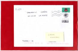 F 2020 / Timbre Du Carnet Chouette, Lettre Verte + Option De Suivi, Sur Lettre Obl Du 1er Jour 16.10.2020, - Francia