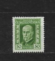 Czechoslovakia 1925 MNH ** Mi 222 Sc 96 President T.G.Masaryk.Tschechoslowakei - Czechoslovakia