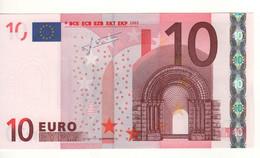 """10 EURO  """"U""""  France   Firma Trichet    L 021 G4   Ch.53  /  FDS - UNC - EURO"""
