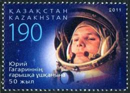 2011Kazakhstan 70450 Years Of Space Flight Gagarin - Raumfahrt