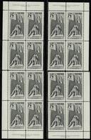 CANADA 1968 SCOTT 486 MNH 4 PLATE BLOCKS VALUE US $ 42.00 @ - Ongebruikt