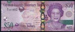 CAYMAN ISLANDS Queen Elizabeth II $50 Banknote - Isole Caiman