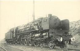 Thème Train Locomotive De L'Ouest Le Mans  Machine 241 A 016 CP Ed. H.M.P. N°320 Vapeur Steam - Treni