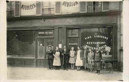 Café Restaurant Noces Banquets  Maison NAUCHE  CARTE PHOTO  A Situer - Da Identificare