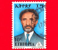 ETIOPIA - Usato - 1973 - Imperatore Haile Selassie - 10 - Ethiopië