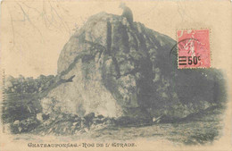 87 CHATEAUPONSAC Roc De L'Etrade ( Pierre Aux Sacrifices) CPA Gallet Bellac - Chateauponsac