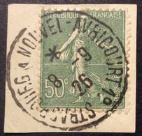 A27 Ambulant Strasbourg à Nouvel-Avricourt Semeuse 198 - 1877-1920: Periodo Semi Moderne