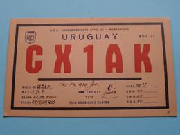 URUGUAY CX1AK Montevideo Louis Rodriguez Subios > WOZEP > USA Colorado 1950 ( See / Voir Photo ) - Radio Amatoriale