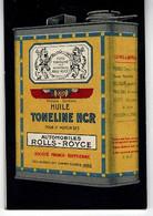 HUILE TONELINE - Carnet RARE- Pour Automobiles ROLLS-ROYCE,publicieté A Chaque Page D.11,4 X7,6cm - Reclame