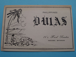 PHILIPPINES DU1AS Nasugbu, Batangas FRED > WOZEP > USA Colorado 1950 ( See / Voir Photo ) - Radio Amatoriale